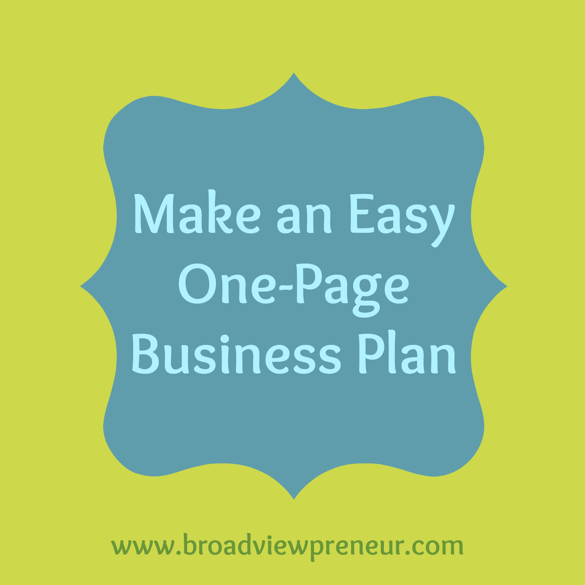 how to make a easy business plan