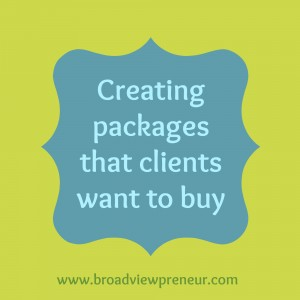 Creating packages that clients want to buy