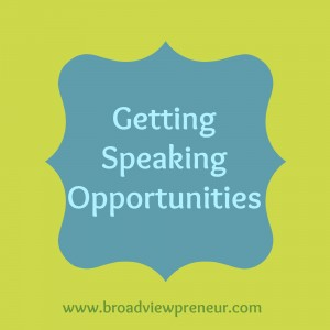 Getting Speaking Opportunities