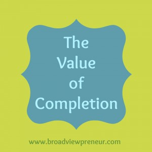The Value of Completion