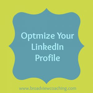 Optimize Your Linked In Profile