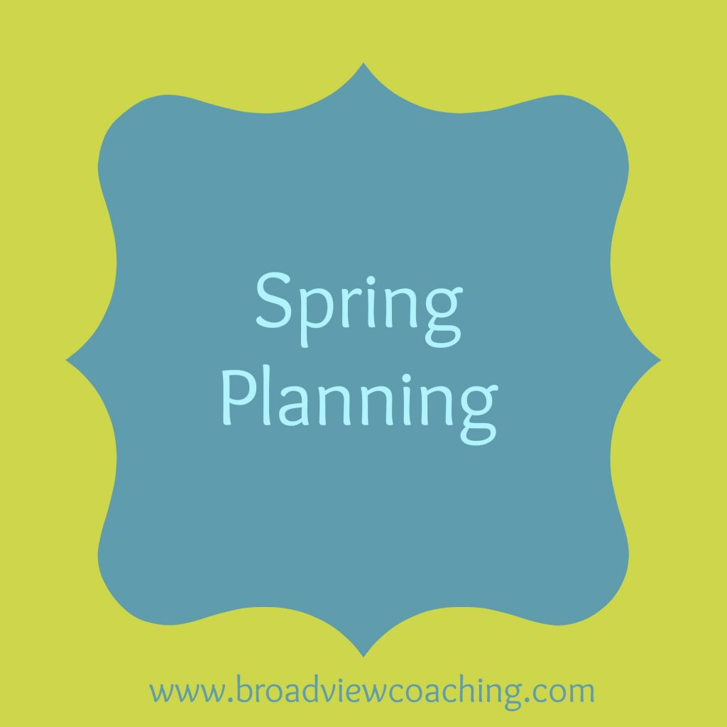 spring planning