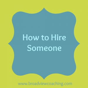 How to Hire someone