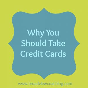 Why you should take credit cards
