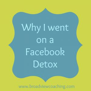 Why I went on a Facebook detox