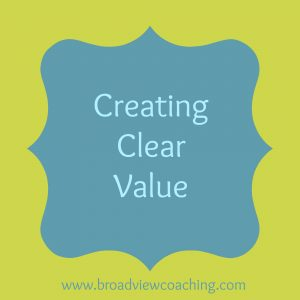 creating clear value