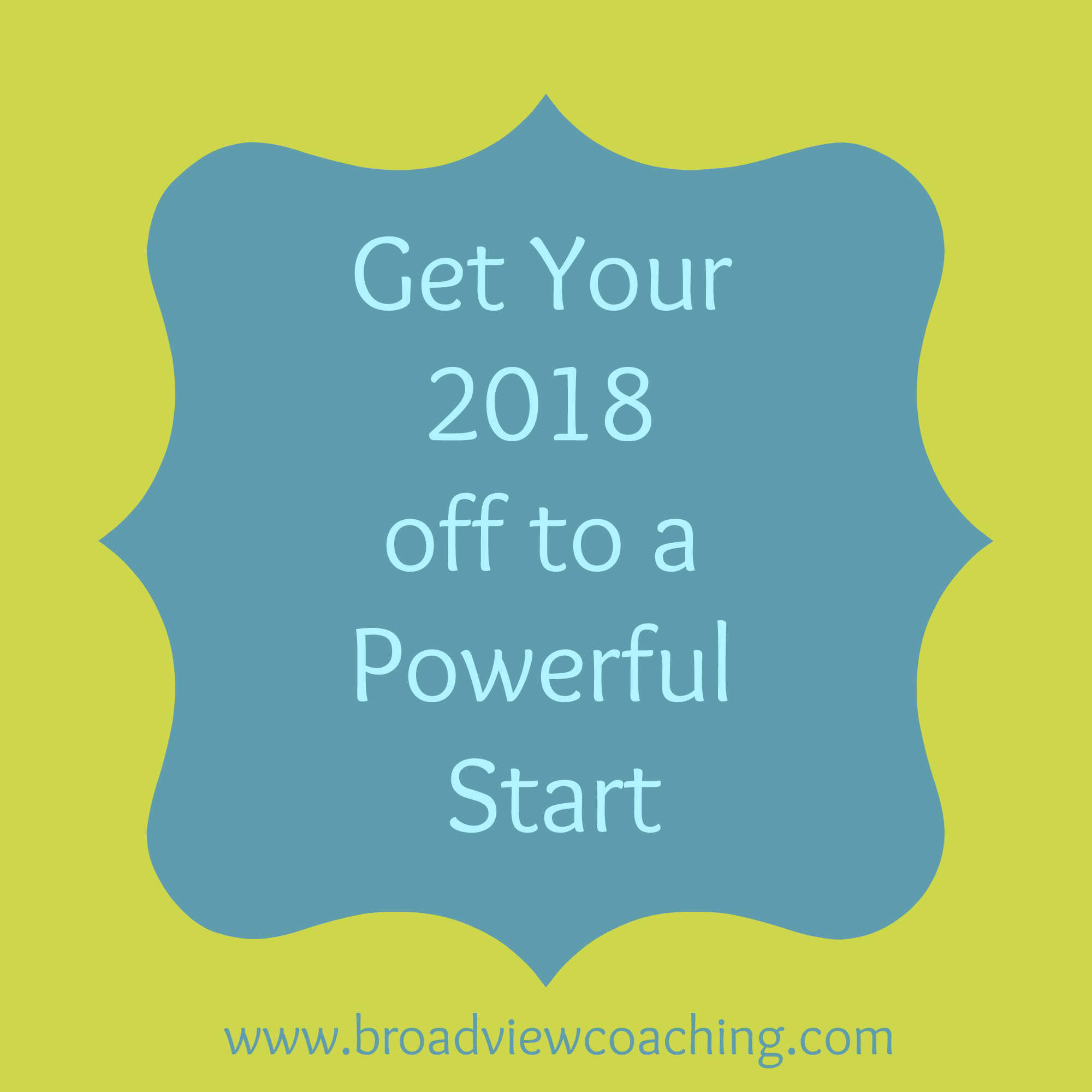 Get your 2018 off to a powerful start