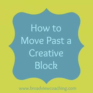 How to move past a creative block