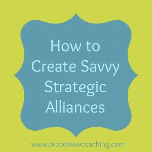 How to creat savvy strategic allances