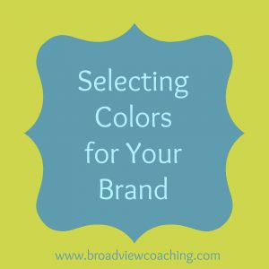 Selecting colors for your brand