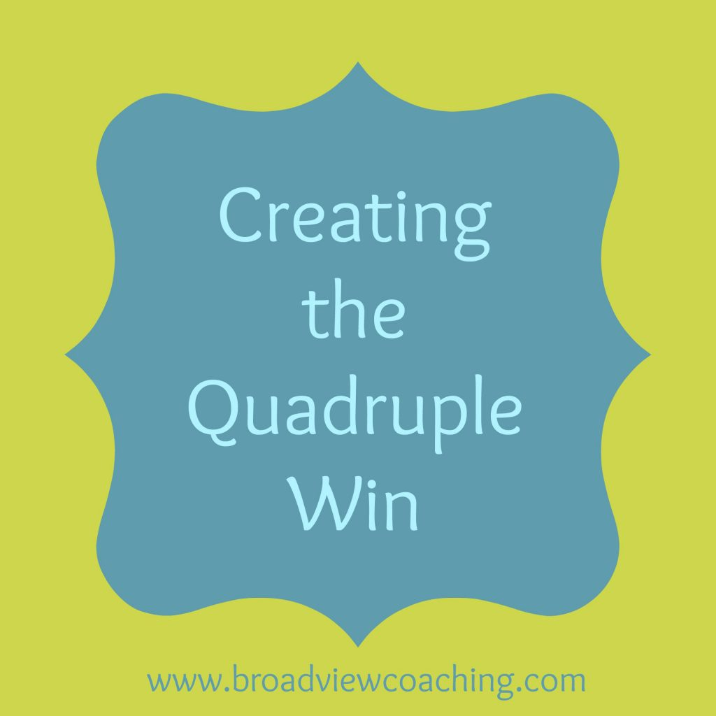 Creating the Quadruple Win