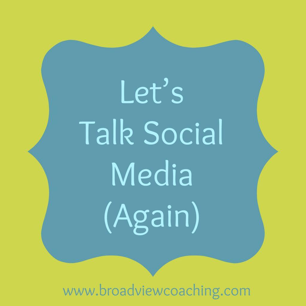 Lets talk social media again