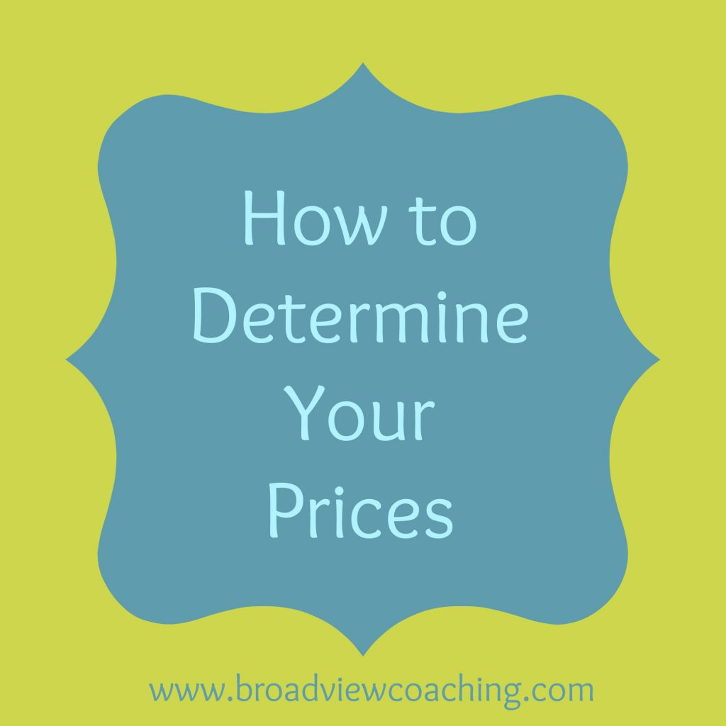How to determine your prices
