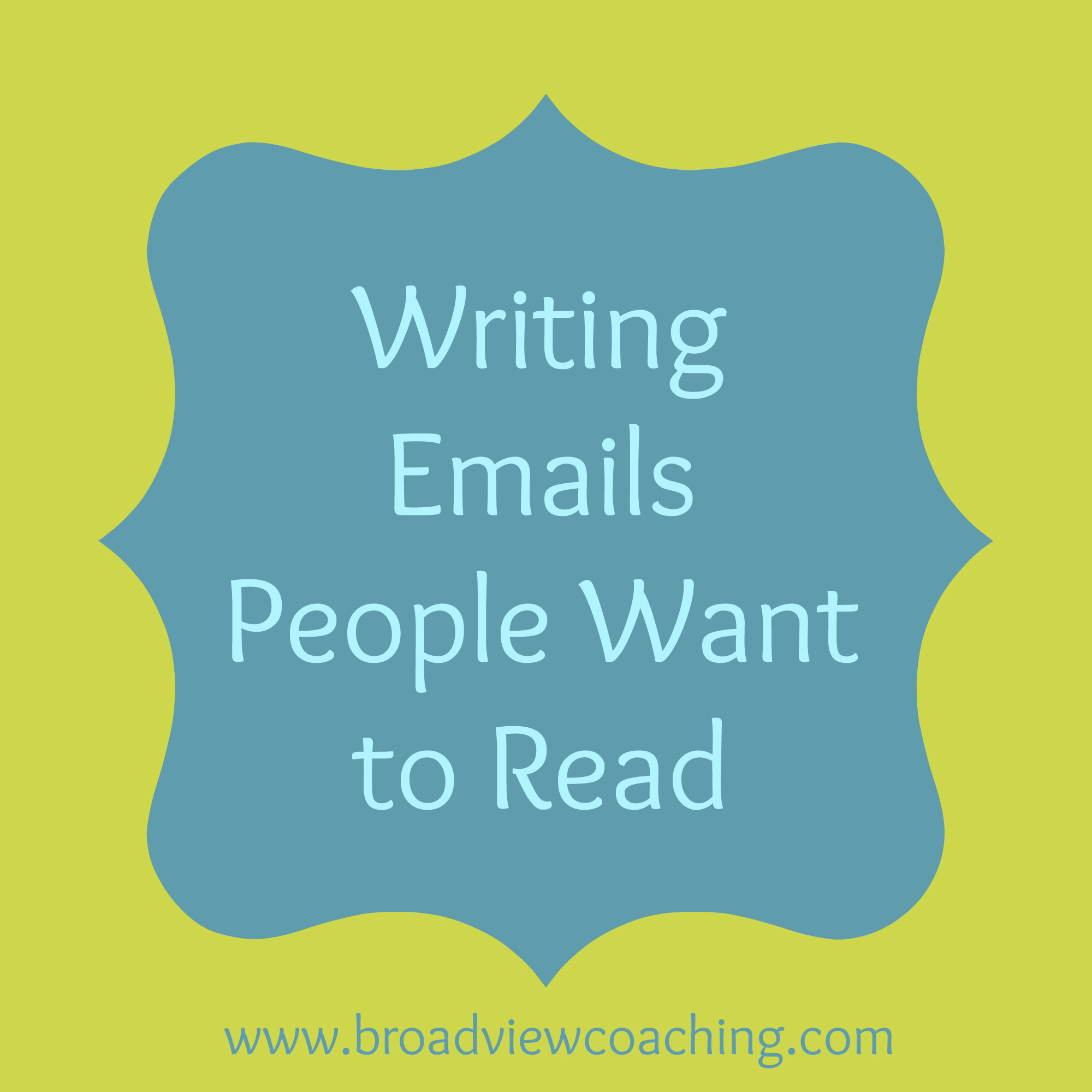 How to write emails people want to read